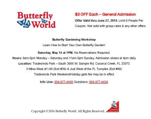 Discount Coupon – Butterfly World 2