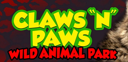 [Claws -n- Paws Wild Animal Park Logo]
